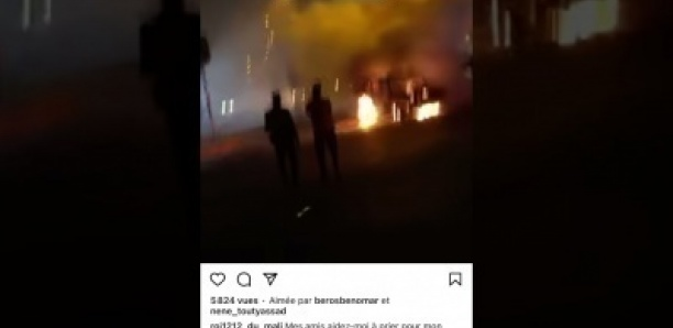 La voiture de Sidiki Diabate brulée