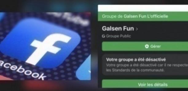 Facebook désactive le groupe Galsen Fun, pour avoir validé des publications contre les h0mosexuels