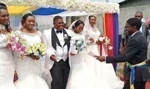 Gabon : Il épouse 4 Femmes, Le Même Jour !