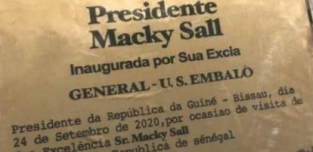 Guinée Bissau : Une avenue porte désormais le nom de Macky Sall