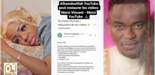 bril retrouve enfin ses 4 clips videos supprimées dans sa chaine youtube par dieyna baldé