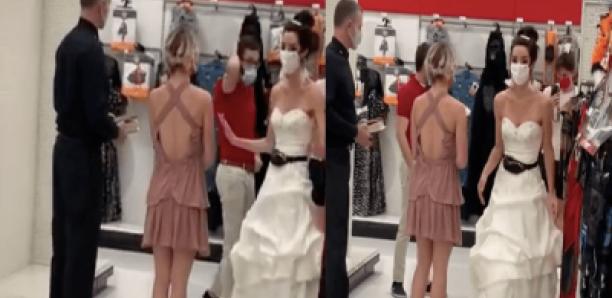 Elle débarque au lieu de travail de son fiancé en robe de mariée et l'oblige