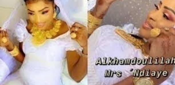 Mariage- Mbathio assure le show avec une parure en or de 9 millions