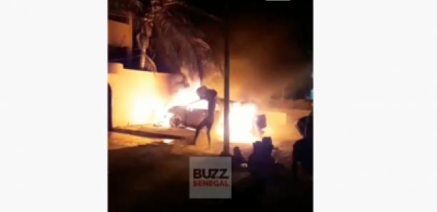 Nord foire : Une voiture prend feu, un poteau de la senelec endommagé